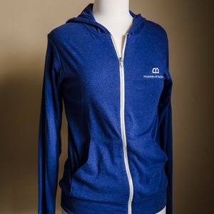 Blue Museum of the Bible Zip Up Jacket
